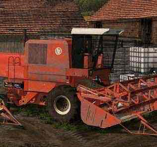 Bizon Red Zo56 V2.0 By Golden Freddy Combine Mod for Farming Simulator 15 (FS 15)