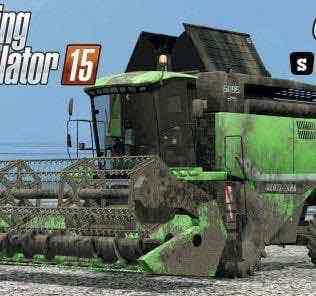 Deutz Fahr 6095 Hts V1.3 Combine Mod for Farming Simulator 15 (FS 15)