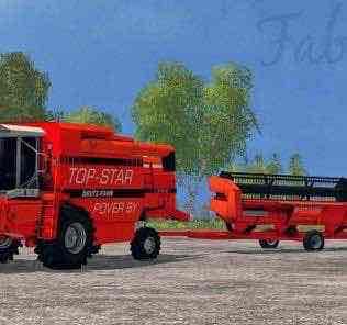 Deutz Fahr Top-Star M 36.10 Combine Mod for Farming Simulator 15 (FS 15)