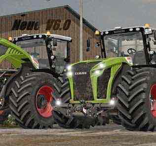 Claas Xerion 4000-5000 (3Rd Generation) V 6.1 Finale Mod for Farming Simulator 2017 (FS17)