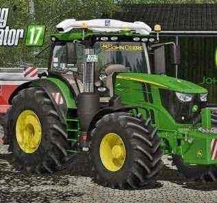 John Deere 6R Series Full Pack V1.0 Mod for Farming Simulator 2017 (FS17)