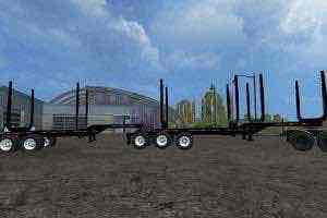Trail Ex Log Trailers V1 Mod for Farming Simulator 15 (FS 15)