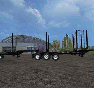 Trail Ex Log Trailers V1 Mod for Farming Simulator 15 (FS 15)