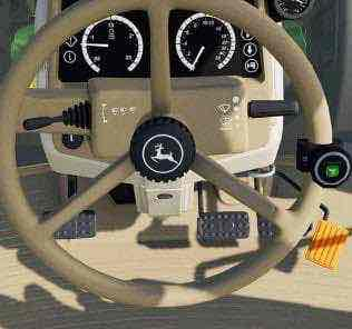 John Deere 6M Steering Knob Mod for Farming Simulator 2019 (FS19)