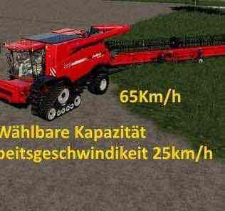 Case Axial 9240 With Capacity Option And Working Speed 25Km/H V1.0 Mod for Farming Simulator 2019 (FS19)