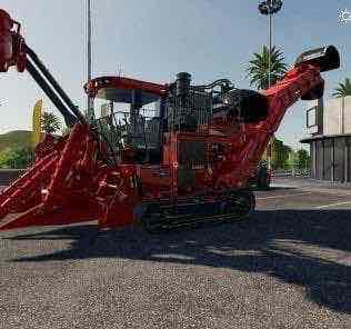 Case Ih Suger Cane Harvester V1.0 Mod for Farming Simulator 2019 (FS19)