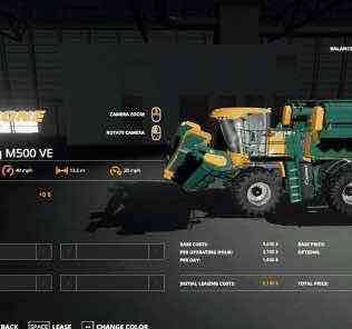 Krone Big M500 Ve V1.0 Mod for Farming Simulator 2019 (FS19)