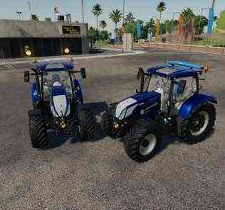 New Holland T6 Blue Power V1.0.0.3 Mod for Farming Simulator 2019 (FS19)