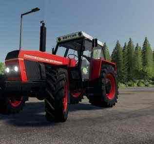 Zetor 12145 Edit Jzd Chrastany Mod for Farming Simulator 2019 (FS19)