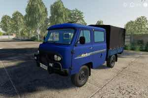 Uaz 39094 Farmer V1.0.0.0 Mod for Farming Simulator 2019 (FS19)