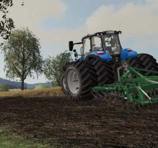New Holland T5 V1.0 Mod for Farming Simulator 2019 (FS19)