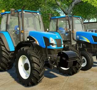 New Holland Tl-A T5000 V1.0 Mod for Farming Simulator 2019 (FS19)