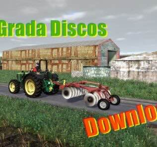 Disc Harrow Red V1.0 Mod for Farming Simulator 2019 (FS19)