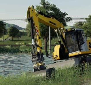 Liebherr 918 + Pack Engcon V2.0 Mod for Farming Simulator 2019 (FS19)