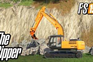 Ripper R115 For Hitachi Excavator V1.0 Mod for Farming Simulator 2019 (FS19)