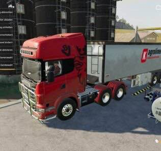 Scania R730 Semi 3 Axle V1.0.0.2 Mod for Farming Simulator 2019 (FS19)