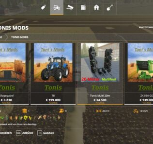 20 Meter Multicutter V1.2 Mod for Farming Simulator 2019 (FS19)