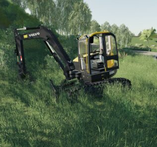 Volvo Ecr88D Beta Mod for Farming Simulator 2019 (FS19)