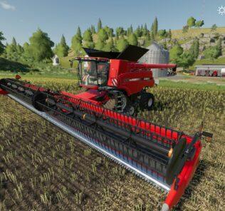 Case Axial 9240 + Header Hubcap Edition V1.0 Mod for FS19 – Farming Simulator 2019