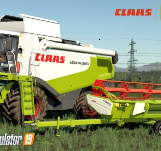 Claas Lexion 530-540 V1.0 Mod for FS19 – Farming Simulator 2019