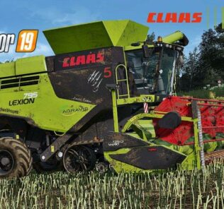 Claas Lexion 795 Monster Limited Edition V1.0 Mod for FS19 – Farming Simulator 2019