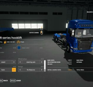 Scania R-Series Hooklift V1.2 Mod for FS19 – Farming Simulator 2019