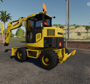 Komatsu Pw98 V1.0 Mod for Farming Simulator 2019 (FS19)