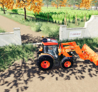 Kubota M4072 V1.0 Mod for Farming Simulator 2019 (FS19)